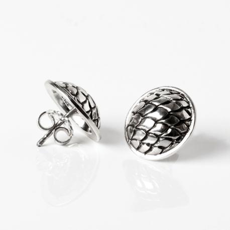 silver dragon boat earrings