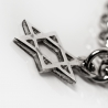 Silve chain bracelet David Star