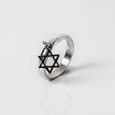 David Star silver ring