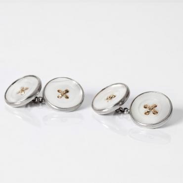 Double silver cufflinks