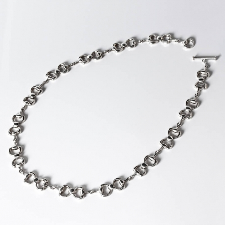 Silver woman necklace
