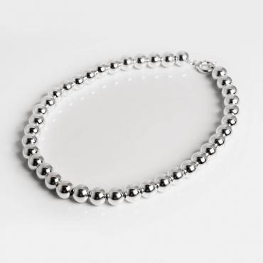 Collana palline in argento