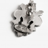 Silver brooch two angels