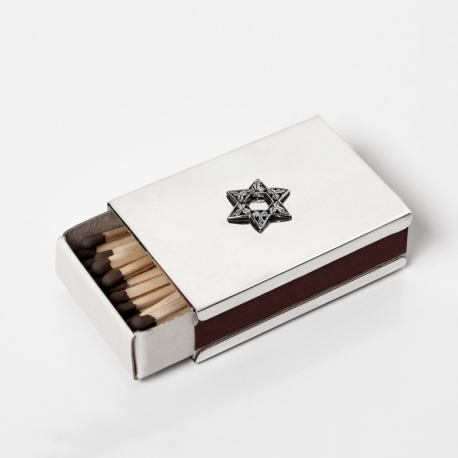 scatola porta fiammiferi in argento