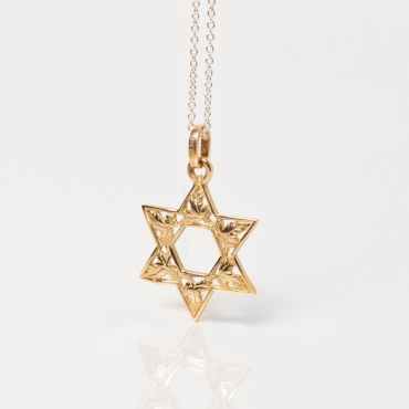 18 KT Star of David pendant