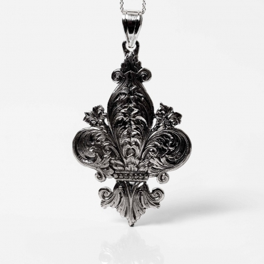 Silver pendant Florence lily