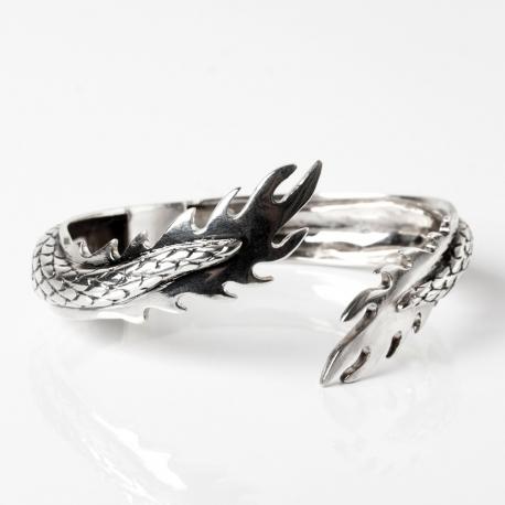 Silver tail bracelet