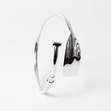 Silver oar bracelet