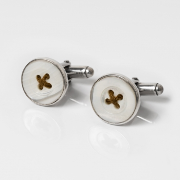 Silver cufflinks with gold