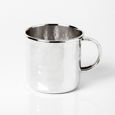 Silver glass with handle