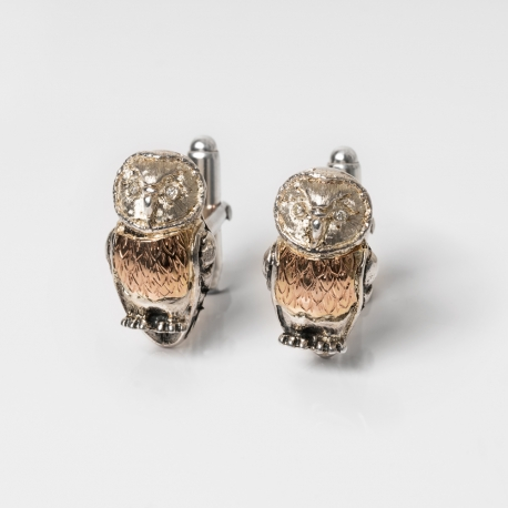 Silver cufflinks owl