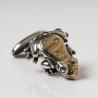 Silver cufflinks frog