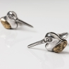 Silver cufflinks bird