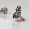 Silver cufflinks Snowman