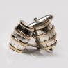 Silver cufflinks wine barrels
