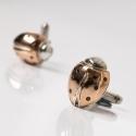 Silver & gold cufflinks